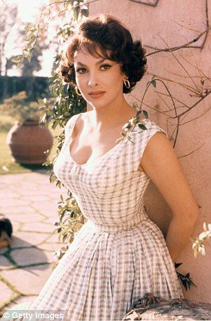 Screen siren: Gina Lollobrigida in a publicity photograph for the 1954 film Woman of Rome, in which she played Adriania (pictured)