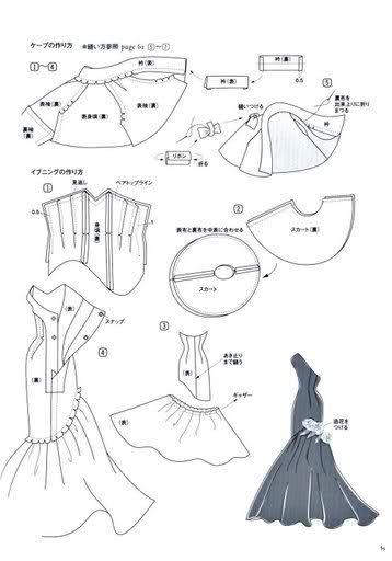 retro tutorials for doll dresses, use google translator.
