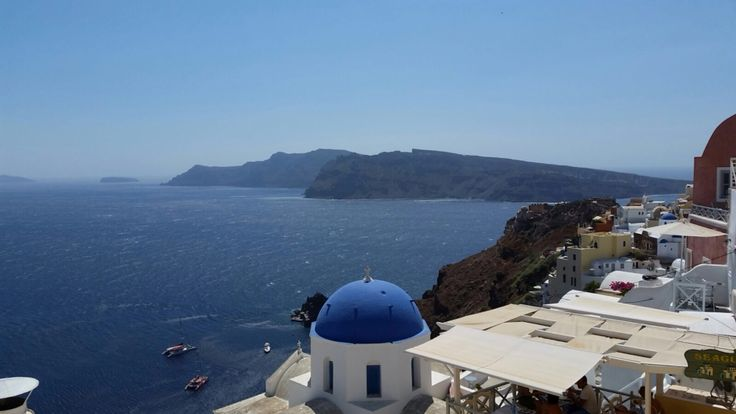 Amazing vacation on the island of Santorini