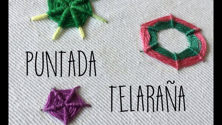 PUNTADA TELARAÑA -TUTORIAL -PASO A PASO