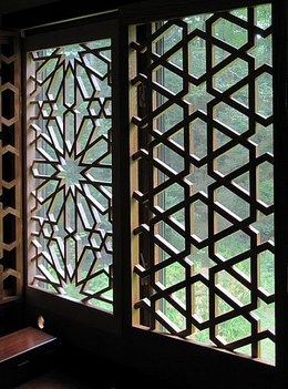 Steel wood and mdf islamic geometric design screens and for Window design 4 6