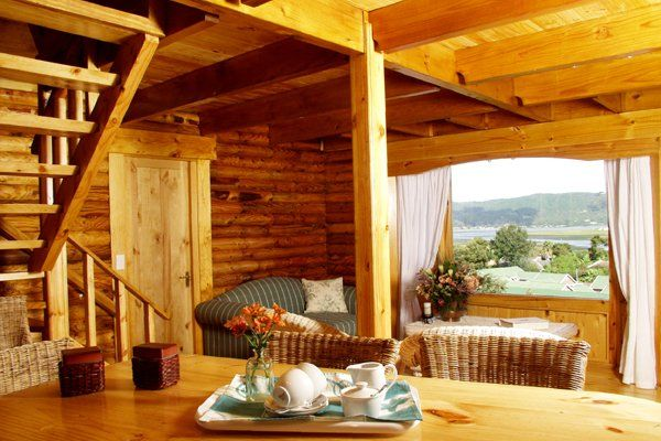 Treat yourself and your loved one to a stay in the double story log cabin at Abalone Lodges in Knysna, Garden Route, South Africa www.abalonelodges.co.za