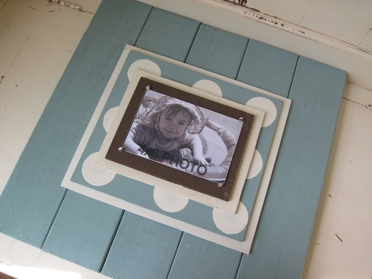 Cottage Turquoise 17x17 Wood Plank Frame with by ProjectCottage: 17X17 Wood, Planks Frames, Crafts Ideas, Decor Ideas, Wood Planks, Deco Wal Ideas, Cottages Turquoi, Frames Ideas, Cute Frames