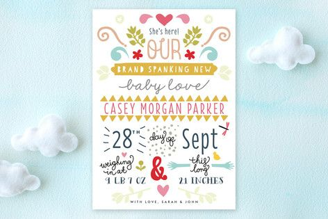Brand Spanking New Birth Announcements by Phrosné Ras at minted.com