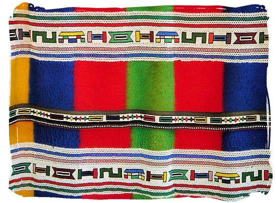 Traditional Ndebele blanket decorated with beadwork - The ...