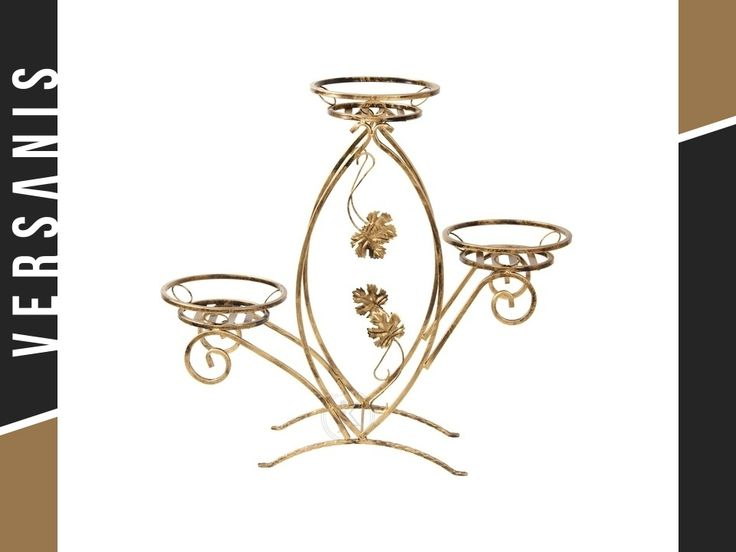 Blumenständer aus Metall Blumentopfhalter Blumensäule Blumentreppe