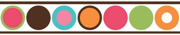 "Deco Dot 15' x 6"" Polka Dot Border Wallpaper"
