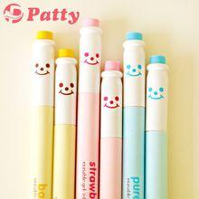 Mini gel apagável caneta de tinta 0.5 mm leite de papelaria zakka material de escritório material escolar papelaria F748(China (Mainland))