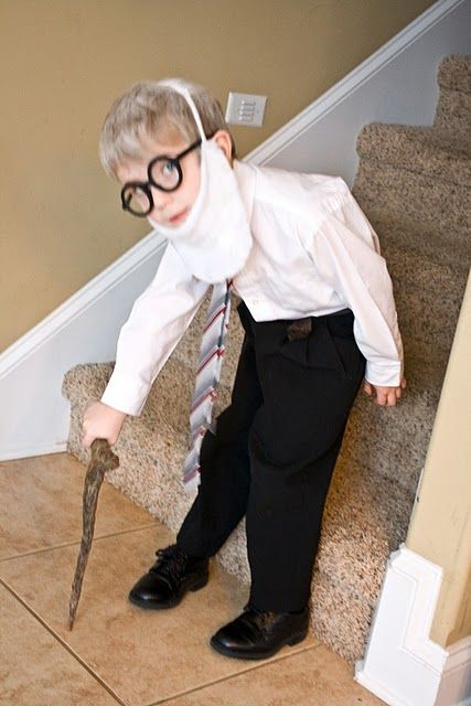 dress like you are 100 for the 100th day of school. cute.