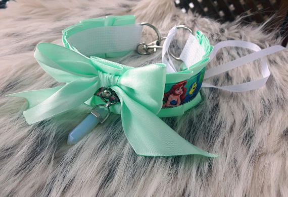 Kitten play mermaid collar / 12.25 inches / ddlg / pet play /