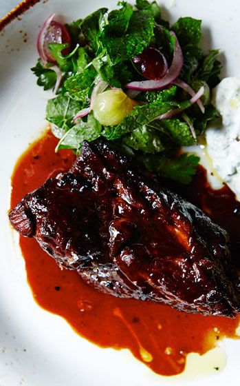 This braised lamb shoulder is lacquered with an addictive sauce. Try the recipe at the link.