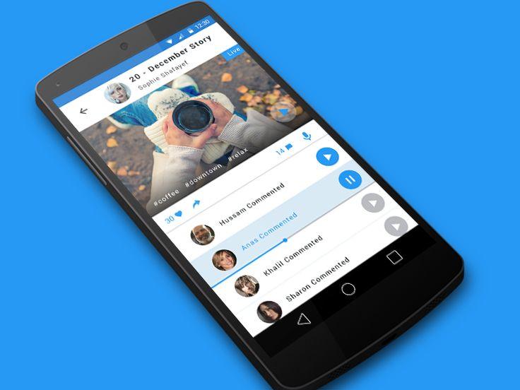 Phototalks - material design social app by Tomas Marek