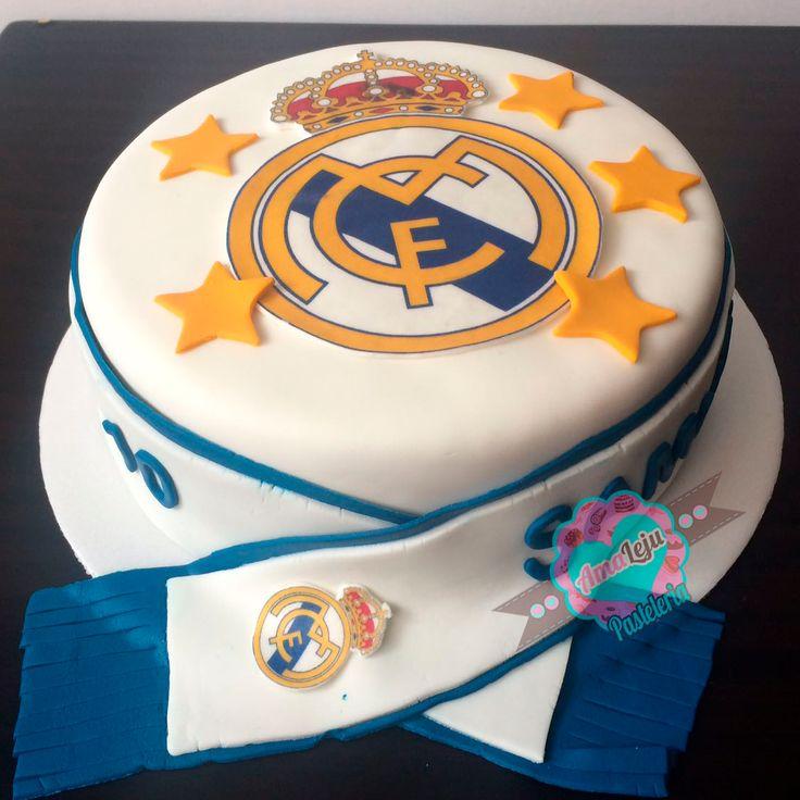 Torta Real Madrid  Realiza tu pedido por; WhatsApp: 3058556189, fijo 8374484  correo info@amaleju.com.co Síguenos en Twitter: @amaleju / Instagram: AmaLeju