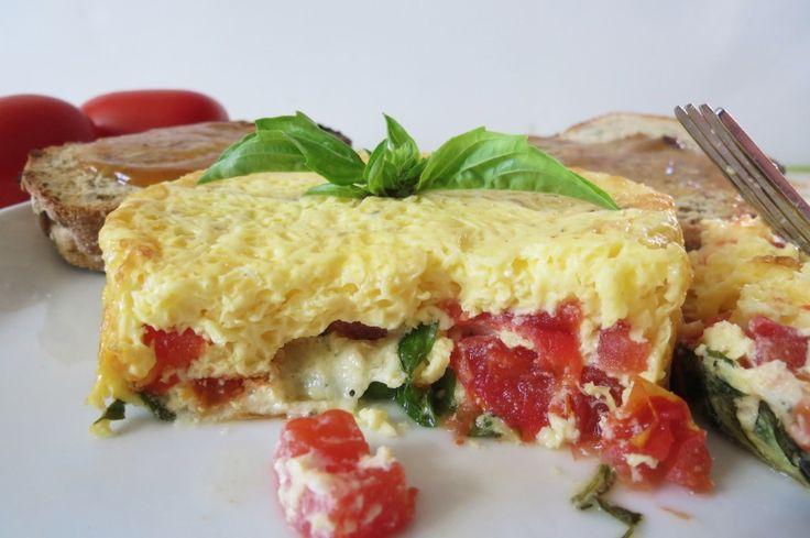 Tomato Basil Fritata Calories: 101, Fat: 1.7, Cholesterol: 5.3, Sodium ...