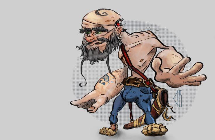 Mighty granddad #krita #PravjahGallery
