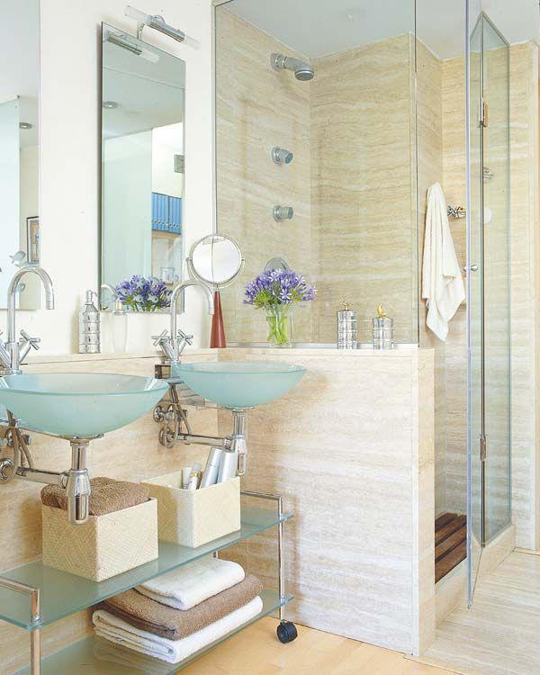M s de 25 ideas incre bles sobre mampara de ducha en - Como colocar microcemento ...