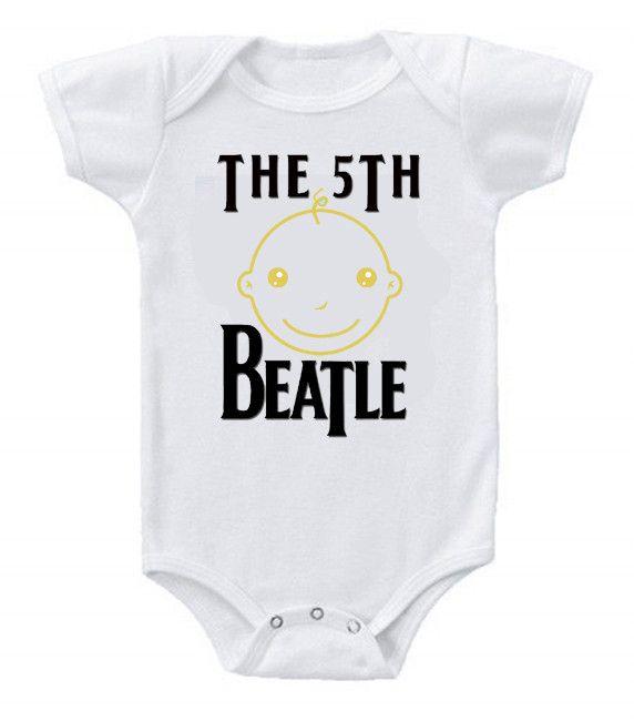Funny Humor Custom Baby Bodysuits The Beatles The 5th Beatle #2