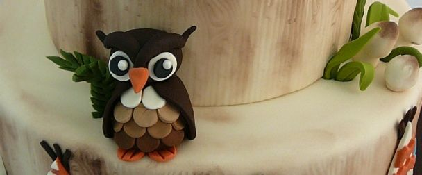 How to make a fondant Owl # gruffalo owl  # woodland owl
