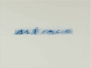 silence, 2006 ballpoint pen and oil on linen