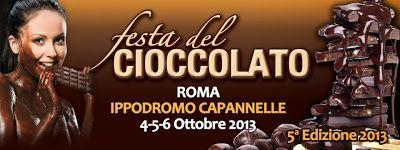 Dal 4 al 6 ottobre Festa del Cioccolato all'Ippodromo di Capannelle, Roma. Ingresso libero.