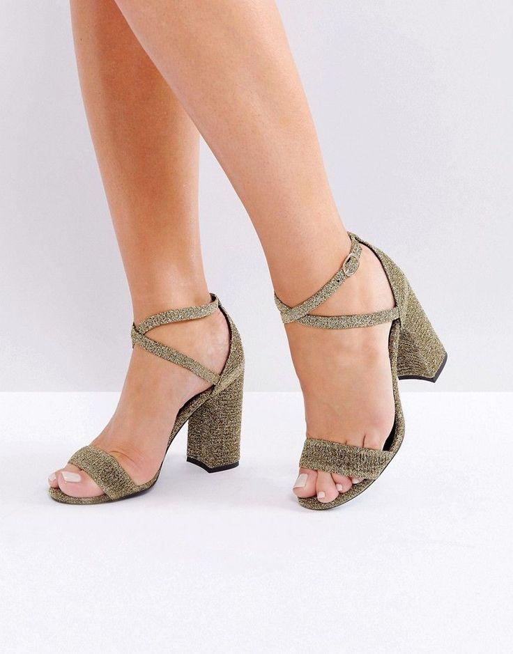 New Look SHARP - High heeled sandals - silver
