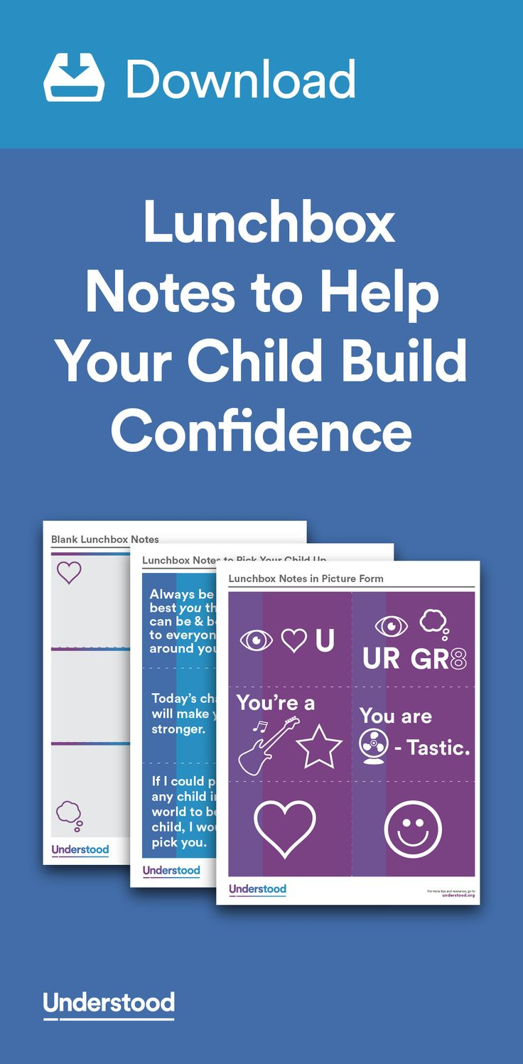 For kids with learning and attention issues, school can be a stressful place. While you can't always be there to cheer your child on, a little note in his lunchbox can go a long way. A lunchbox note can help him build confidence to make it through the day.