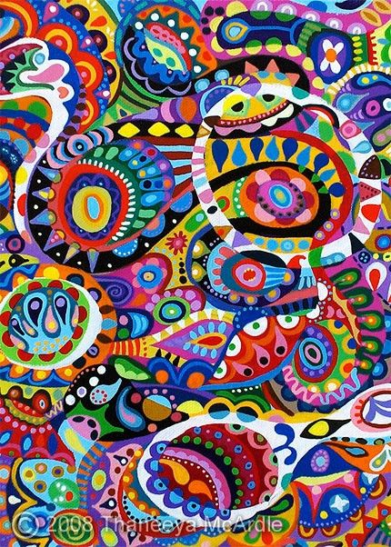 colors: Abstract Paisley, Art Is Fun, Color Abstract, Abstract Art, Doodles, Abstract Acrylics, Acrylics Art Paintings, Abstract Paintings, Art Projects