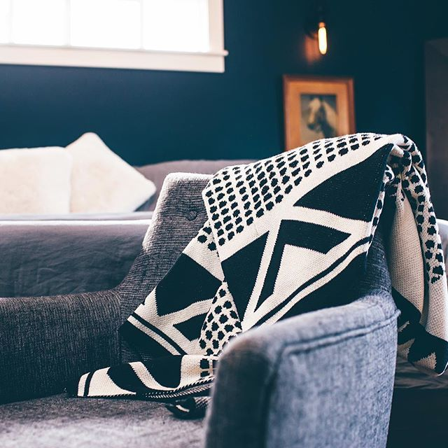 Seek & Swoon : Soft and cozy eco throws made from regenerated (recycled cotton). This is Adobe, inspired by Santa Fe. Designed in Portland, Oregon and knit in the USA at a family-owned mill. A beautiful and timeless gift made in small batches.