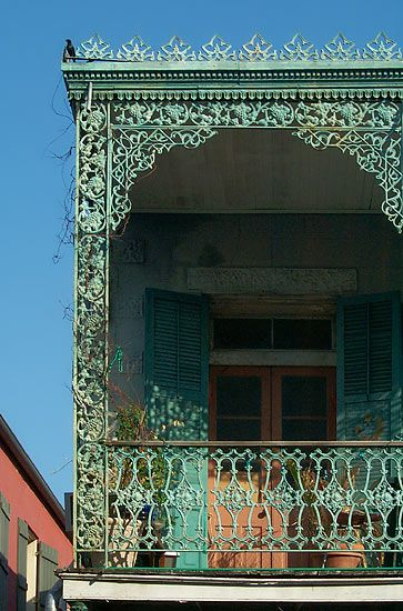 New Orleans French Quarter balcony close up