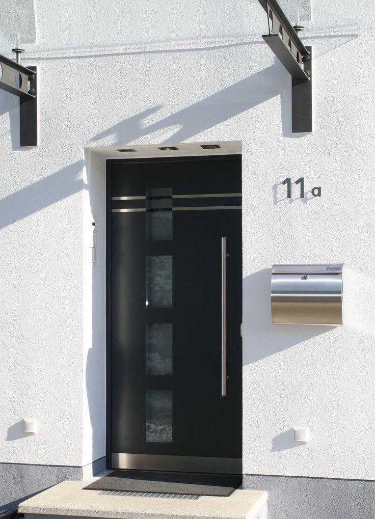 Puerta de entrada batiente / de aluminio / de seguridad - IMB Vertriebs GmbH