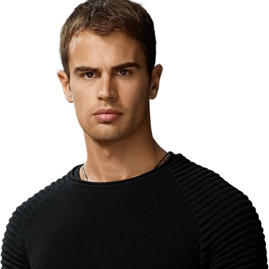 """Tobias """"Four"""" Eaton (Theo James) is alongside Tris in the Divergent Series. The need to stop the faction, Erudite, from taking over."""