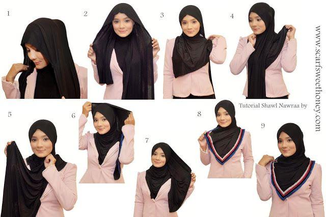 Jilbab Hitam Setelan Jas | http://modelmodeljilbab.com/model-jilbab-yang-pas-dan-cocok-untuk-jas/