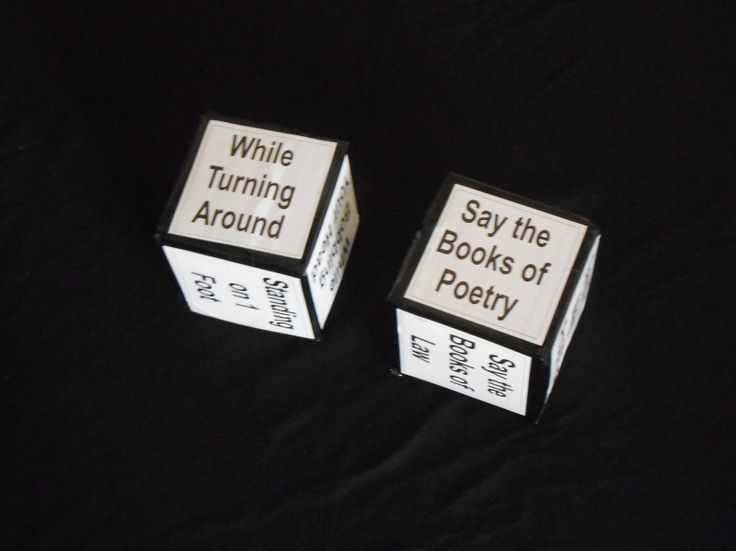 Books of the Bible/Bible Skills Cube Game