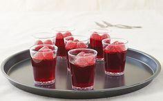 Receta shots de frambuesa y vodka