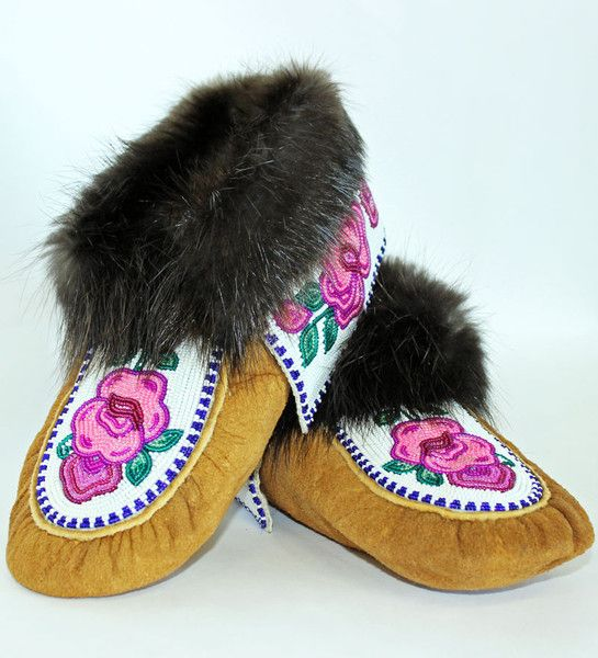Beaded Moccasin Slippers