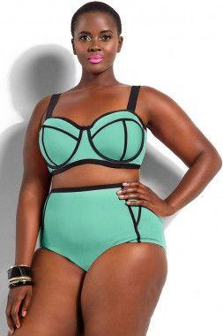 green triangle bikini
