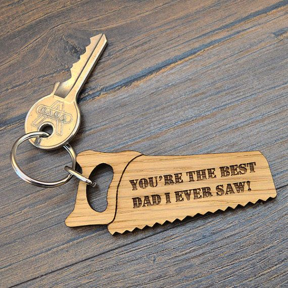 Best Dad I Ever Saw Fathers Day Keyring by PrettyPersonalisedUK