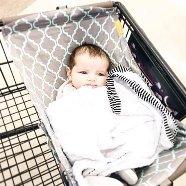 """One of the best baby products I've purchased! I was so worried about doing simple tasks like grocery shopping or target trips with Emmerson. I didn't want to balance her car seat on the shopping cart (which isn't exactly safe) or put her huge car seat in the cart. Then I found this! The Binxy Baby cart hammock! She loved it and was so comfortable! You can even safely attach your car seat to it if you want to. Love!"" @sweetalleycat #shopbinxy"