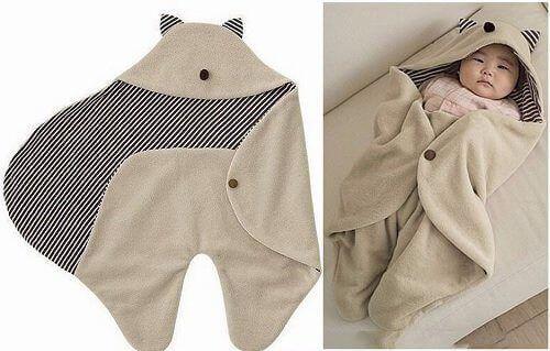 Patrón saco de dormir con gorro para bebé - Patrones gratis