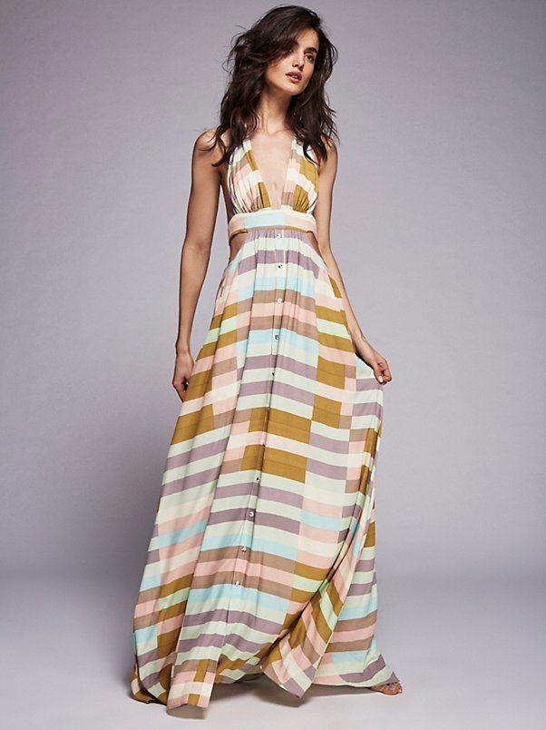 Wrap Top Maxi Dress