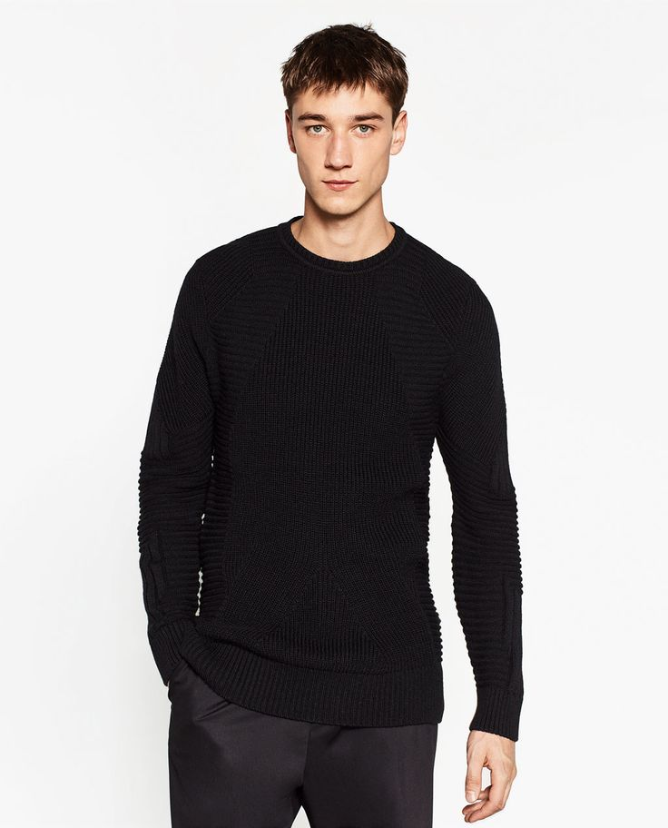 ZARA - MAN - TEXTURED WEAVE SWEATER