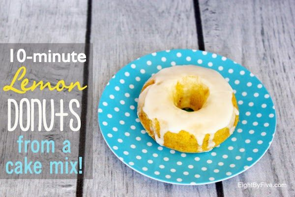 10-Minute Lemon Donuts (From a Cake Mix!) - Eat Drink Eat
