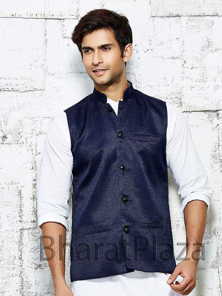 Fabulous navy blue color nehru jacket. Item Code: NJI5001NB