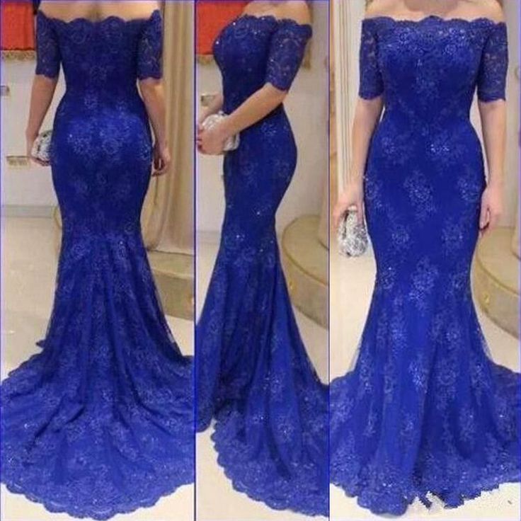 Charming Prom Dress,Lace Prom Dress ,Off the Shoulder Prom Dress,Short Sleeves Prom Dress P755