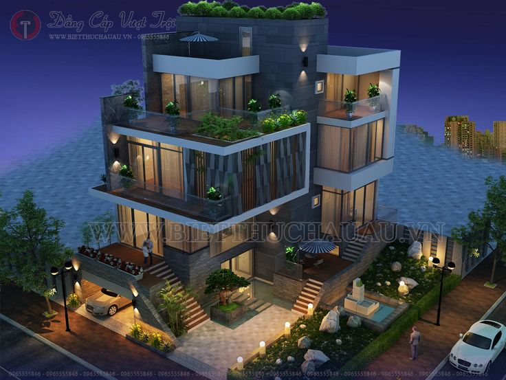 biệt thự hiện đại 5 tầng đẹp 04