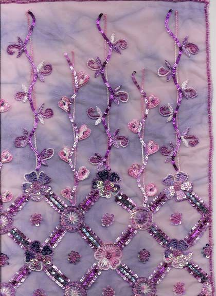 Embroidery fabrics beads sequin needle and