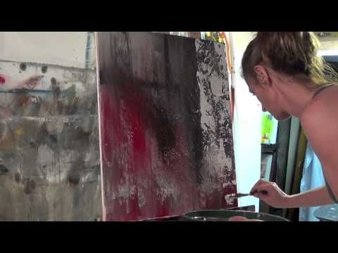 "▶ Abstract Art Painting Demo - Original by Shari Kreller - ""Central Park"" - YouTube"