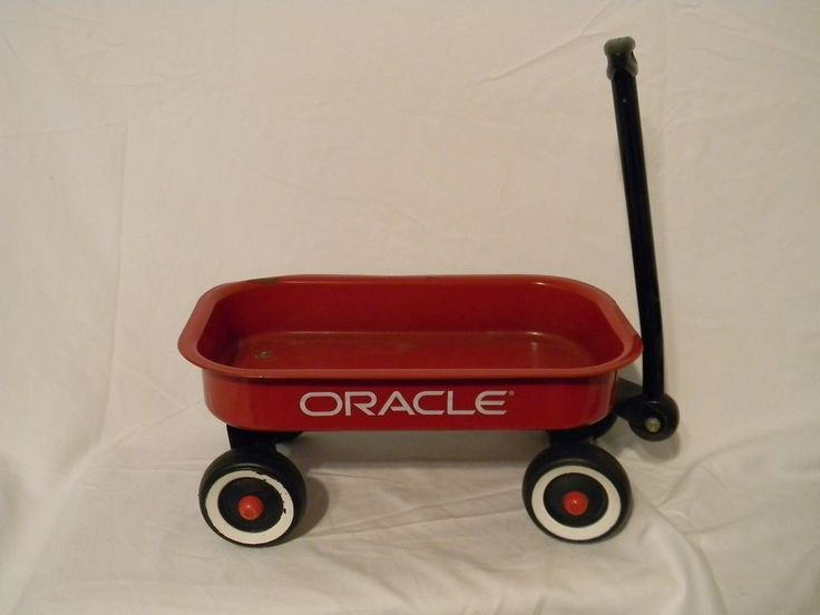 Little Red Toy Wagon Oracle Company Logo Swag Metal   | eBay