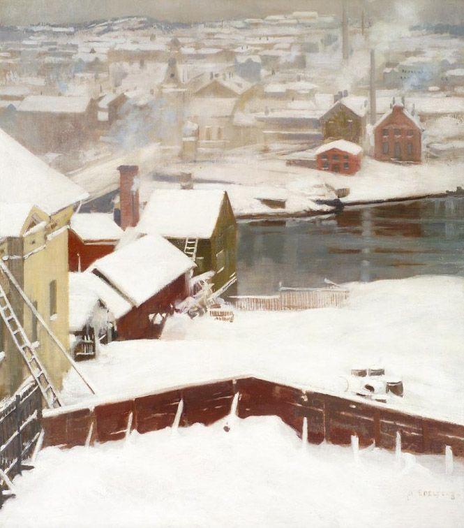Albert Edelfelt (1854-1905): 'The first Snow'