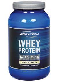 BodyTech Whey Protein French Vanilla, 2.0 Pound , Powder